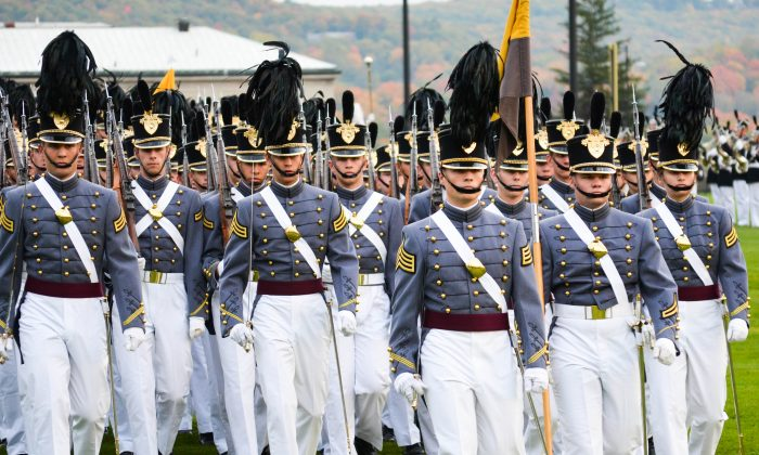 Cadet parade on The Plain at West Point on Oct. 22, 2015. (Yvonne Marcotte/Epoch Times)