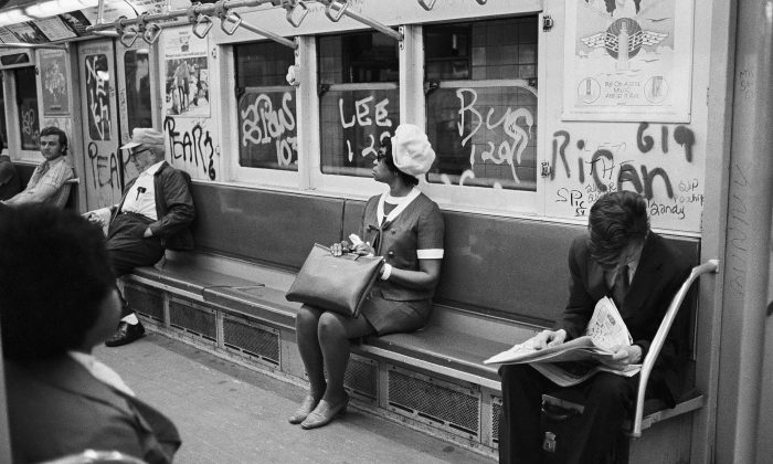 Grafitti on New York City subways and Buses, on July 26, 1972 in New York. (AP Photo/Jim Wells)