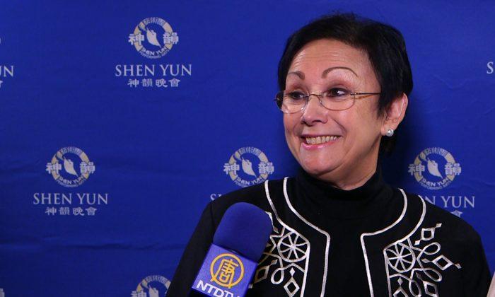 Silvia Moreno at Shen Yun's Jan. 26 performance at the California Center for the Arts. (NTD Television)