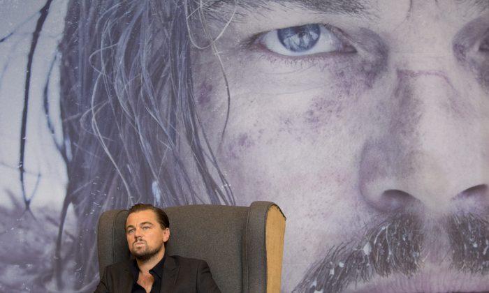 "Leonardo DiCaprio at a press event to promote the Alejandro Inarritu's Oscar-nominated ""The Revenant,"" in Mexico City, on Jan. 26, 2016. (AP Photo/Rebecca Blackwell)"