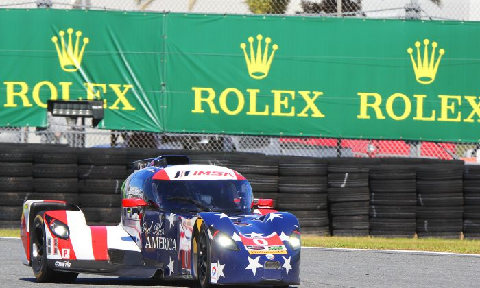 The Panoz DeltaWing could triumph in the 2016 WeatherTech Rolex 24 at Daytona—-an impressive first endurance race victory if it happens. (Chris Jasurek/Epoch Times