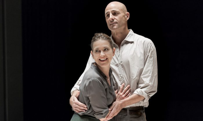 Mark Strong as Eddie Carbone and Nicola Walker as his wife Beatrice give standout performances in an exceptional cast.  (Jan Versweyveld)