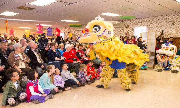 Lion dancers perform at the Huguenot Firehouse during a Chinese New Year celebration on Jan. 31, 2016. (Larry Dye)