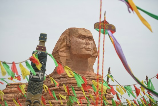 The fake Sphinx in China. (AFP/Getty Images)
