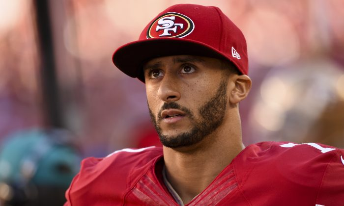 Former San Francisco 49er quarterback Colin Kaepernick in this file photo. (Thearon W. Henderson/Getty Images)