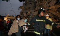 Taiwan Earthquake: Drone Footage Shows Crumbled Building