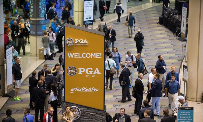 Signage during the PGA Merchandise Show held at Orange County Convention Center on Wednesday, Jan. 27 in Orlando, Florida. (Montana Pritchard/Courtesy the PGA of America).