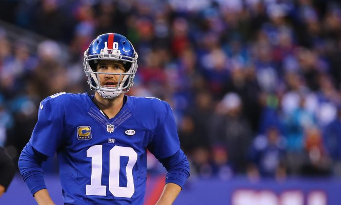 Eli Manning now has as many Super Bowls rings (2) as his brother Peyton does. (Al Bello/Getty Images)