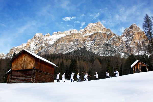 Chefs get ready to prepare an Alpine meal in the Dolomites in northern Italy. (Courtesy of Alta Badia Press Office)