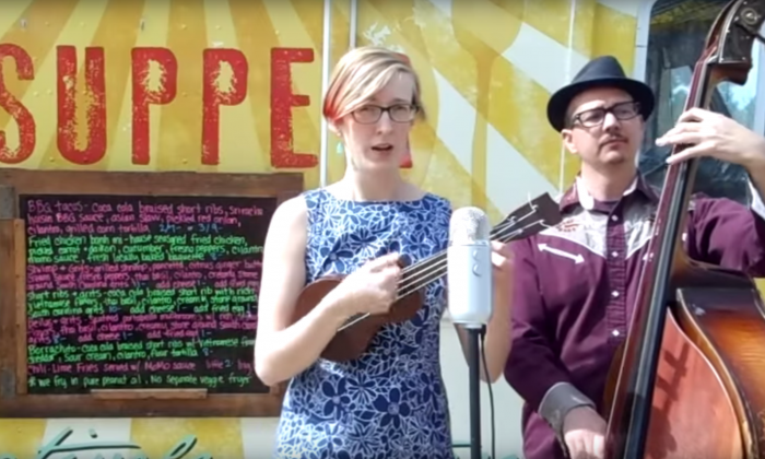 A video response with a song in response to a 1-star Yelp review. (Courtesy Sage and Jared's Happy Gland Band/Youtube)