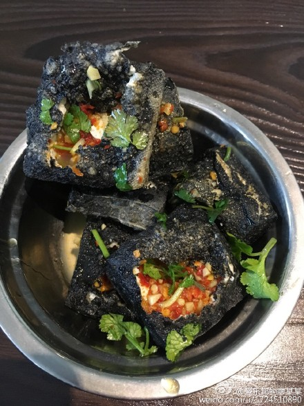 A plate of stinky tofu—presumably not the contaminated kind . (Weibo.com)