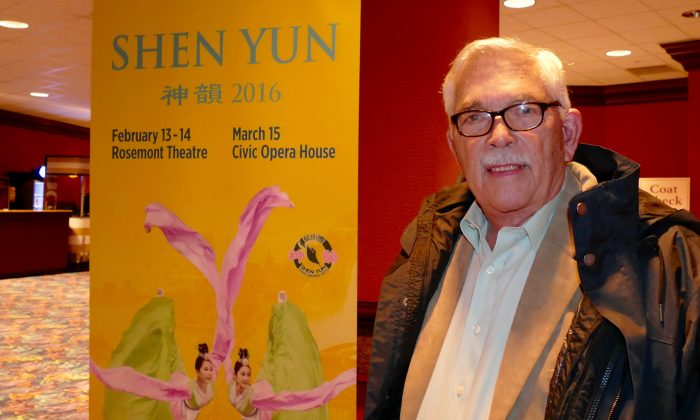 Professor John Dierking was inspired by Shen Yun Performing Arts after seeing it at the Rosemont Theater on Feb. 13, 2016. (Catherine Wen/Epoch Times)