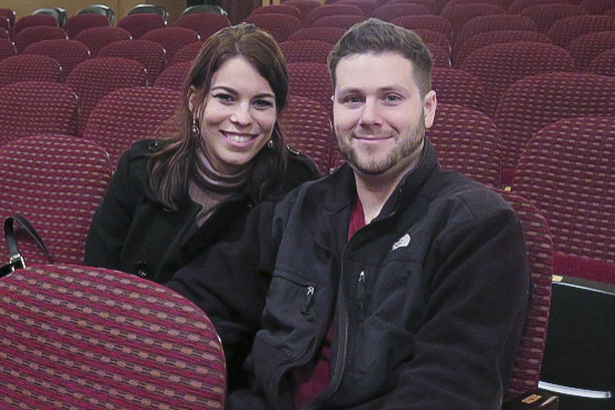 Bobby and Jackie Brancato found the Shen Yun Performance at the Peabody Opera House on Feb. 12 to be a different experience that they deeply enjoyed. (Cat Rooney/Epoch Times)