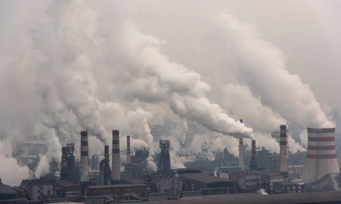 A general view of Qian'an steelworks of Shougang Corporation on January 20, 2016 in Tangshan, China. Shougang Corporation is one of the most largest steel enterprise in China. (Xiaolu Chu/Getty Images)