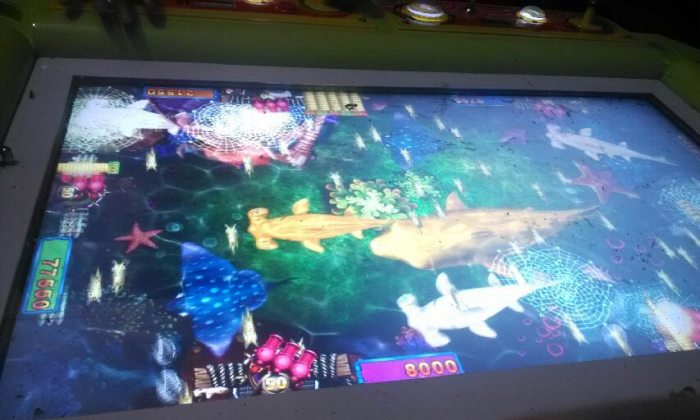 """""""Hit the Fish,"""" the arcade that lost Xie his money and his freedom. (Sina Weibo)"""