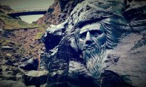 Carving of Merlin in Rock at Tintagel Castle, United Kingdom Sparks Cultural Heritage Controversy
