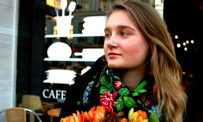 Ivona Kostyna, 19, first traveled to the Ukraine war's front lines in September 2014. (Courtesy of Ivona Kostyna)