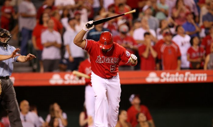 Albert Pujols, 36, has not been the dominant hitter he was for the St. Louis Cardinals from 2001–11. (Stephen Dunn/Getty Images)
