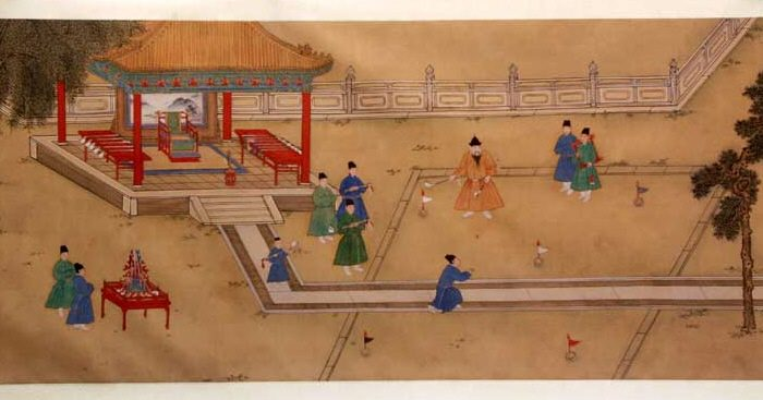 The Ming Dynasty emperor Xuande plays Chuiwan. (Public Domain)