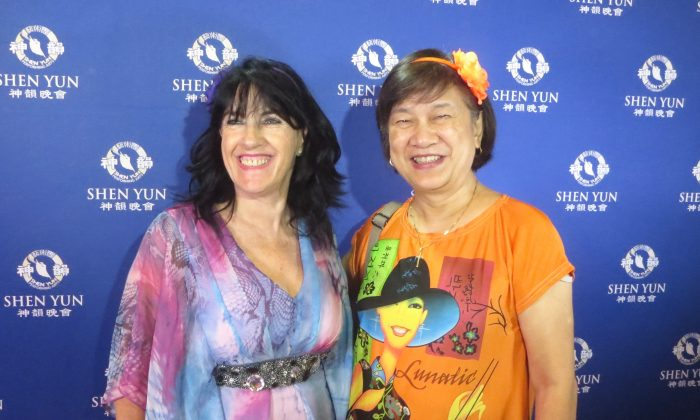 Friends Christine Fitzsimmons and Particia Ngai entered a 'Divine Land' when they saw Shen Yun at Melbourne's State Theatre on Feb. 24, 2016. (Leigh Smith/Epoch Times)