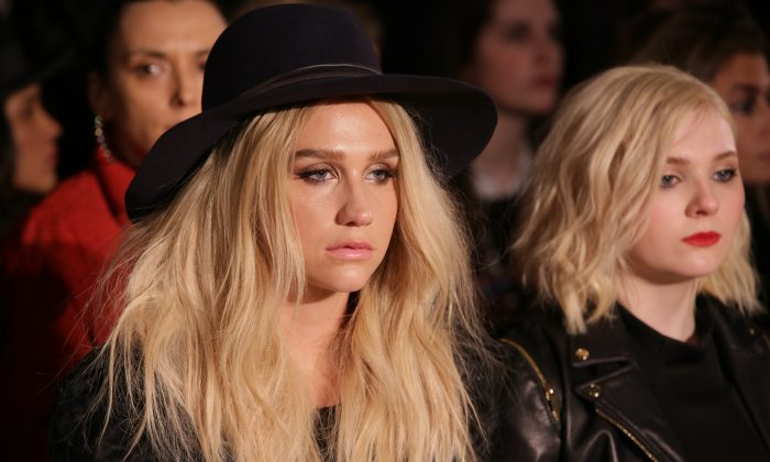 Kesha attends the Zac Posen fashion show at Vanderbilt Hall at Grand Central Terminal on February 16, 2015 in New York City.  (Chelsea Lauren/Getty Images)