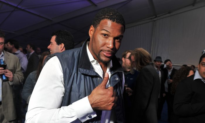 Michael Strahan retired fifth all-time in NFL history with 141.5 sacks and he still has the single-season record of 22.5. (Stephen Lovekin/Getty Images for Bud Light)