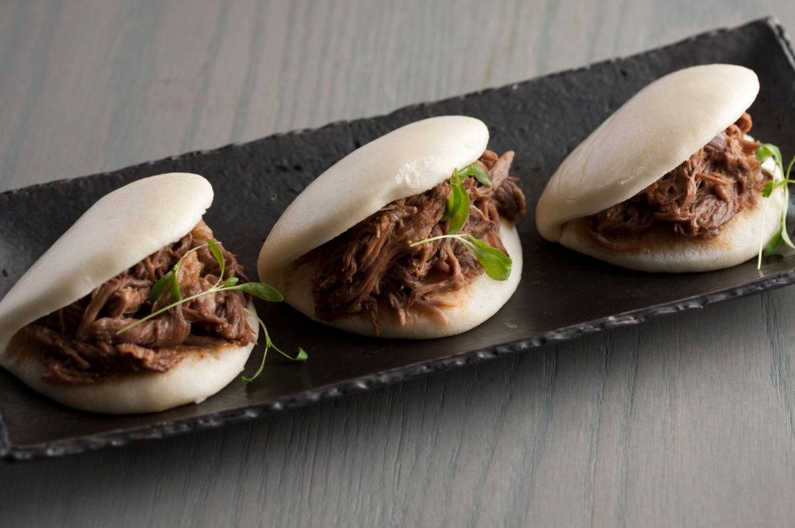 Jue Lan Club's Braised Oxtail Buns. (Melissa Hom)