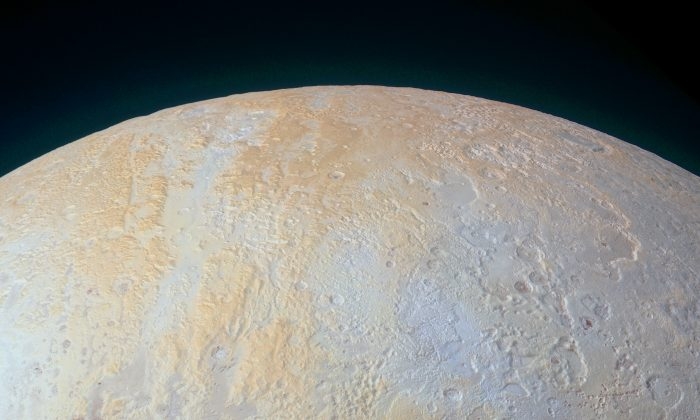 Pluto's North Pole in an image taken by Nasa's New Horizons spacecraft. (NASA)