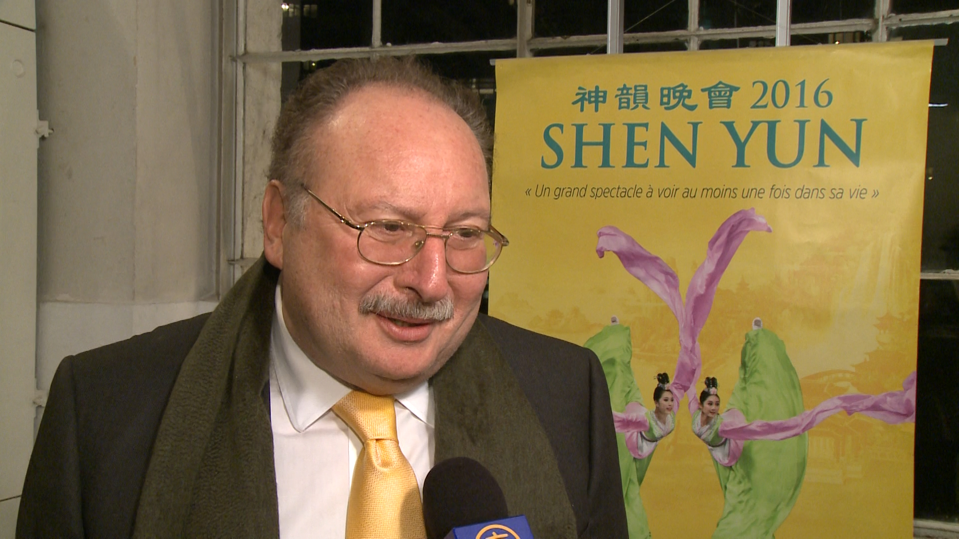 "Fouad II, the last king of Egypt, ""had a wonderful evening"" at the first Shen Yun Performance in Geneva on Feb. 25, 2016. (NTD Television)"