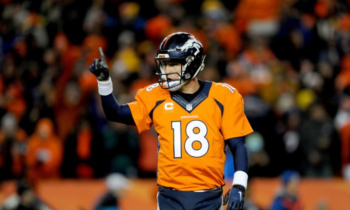 Peyton Manning has yet to announce whether he'll be back for one more season or not. (Dustin Bradford/Getty Images)