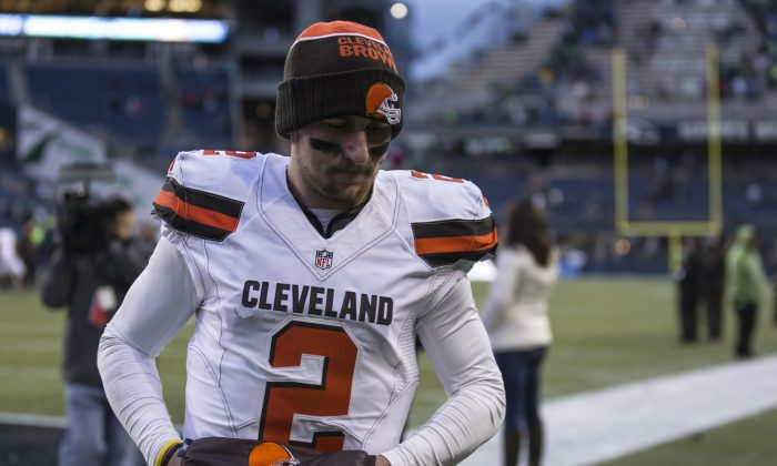 Quarterback Johnny Manziel was the Cleveland Browns first-round pick in 2014 out of Texas A&M. (Stephen Brashear/Getty Images)
