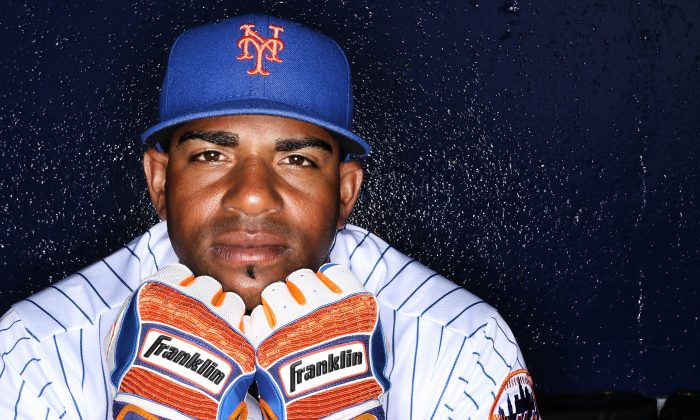 Yoenis Cespedes played a big part in getting the Mets back to the World Series last year. (Marc Serota/Getty Images)