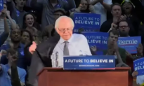 Video: Bernie Sanders Takes of Jacket at Rally and Tosses It Into Crowd