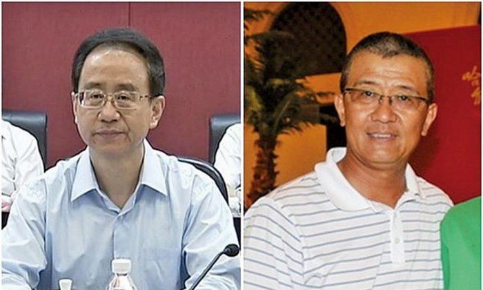 (L) Ling Jihua, (R) Ling Wancheng. It was reported that former Chinese Communist Party leader Ling Jihua's brother, Ling Wancheng is providing top secrets of the Chinese government to U.S. intelligence agencies (Internet images)