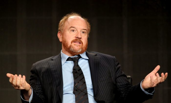 Louis C.K. speaks onstage during the 'Louie' panel discussion at the FX Networks portion of the Television Critics Association press tour at Langham Hotel on January 18, 2015 in Pasadena, California. (Frederick M. Brown/Getty Images)