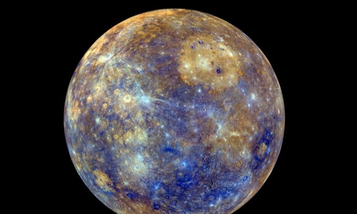 A 2013 picture of Mercury taken by the MESSENGER spacecraft (NASA)