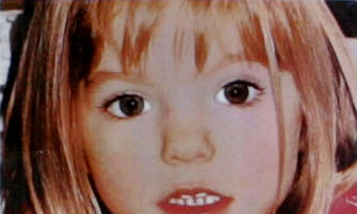A picture of three-year old British girl Madeleine McCann who went missing at the Ocean club apartment hotel in Praia de Luz , in Lagos. (AFP/Getty Images)