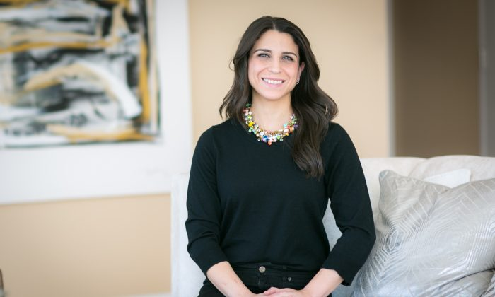 """Real estate broker Katherine Salyi, in the Upper West Side of Manhattan on Feb. 19, 2016.Salyi is part of the The Serhant Team NY which has been as the number one sales team in New York. She has also been featured on the Bravo television series """"Millon Dollar Listing New York""""  (Benjamin Chasteen/Epoch Times)"""