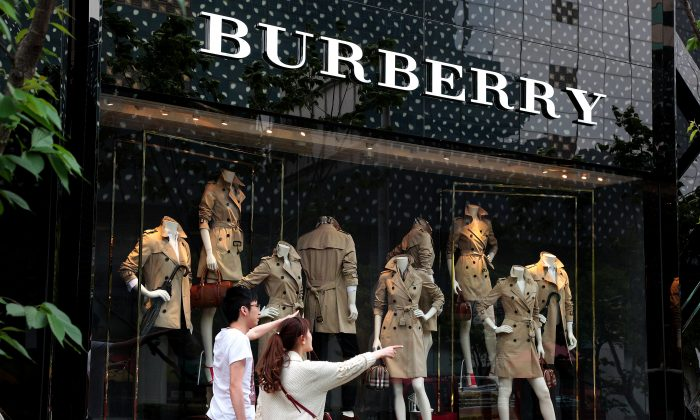 Burberry's flagship store in Shanghai on April 25, 2014. ( Kevin Lee/Getty Images)