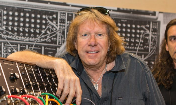 Keith Emerson attended the 2015 National Association of Music Merchants  (NAMM) show in Anaheim, California. (Photo by Paul A. Hebert/Invision/AP, File)