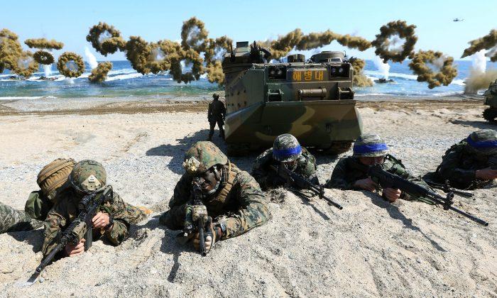 Postponed US-S. Korea joint military drills get under way