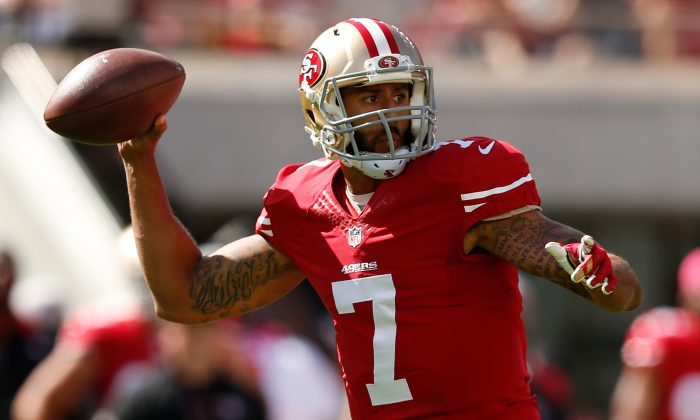 Quarterback Colin Kaepernick went just 2–6 as starter last season for the San Francisco 49ers. (Ezra Shaw/Getty Images)