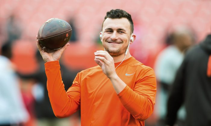 Quarterback Johnny Manziel is a free agent after the Browns released him last week. (Jason Miller/Getty Images)
