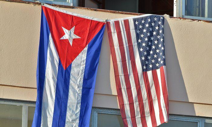 Havana on August 14, 2015, during US Secretary of State John Kerry's (Adalberto Roque/AFP/Getty Images)