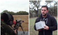 Video: Men Shoot Bullets at Giant Chunk of Aluminum