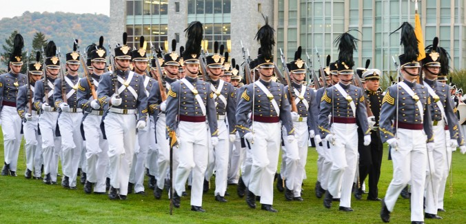 Cadets parade on The Plain at West Point on Oct. 22, 2015. (Yvonne Marcotte/Epoch Times)