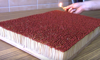 Video: 6,000 Matches Igniting One Other in a Chain Reaction