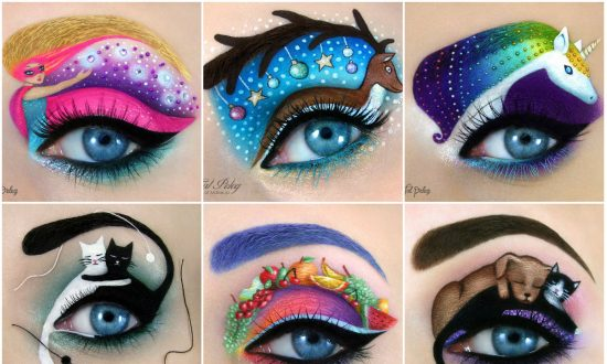 Artist Creates Most Cute and Beautiful Pictures on Her Eyelids