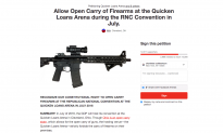 Thousands of People Are Signing a Petition to Allow Firearms at the GOP Convention