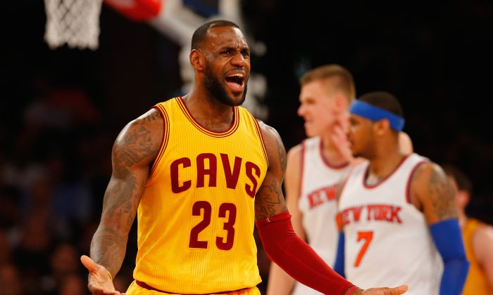 LeBron James has three triple-doubles on the season for the Cleveland Cavaliers. (Al Bello/Getty Images)
